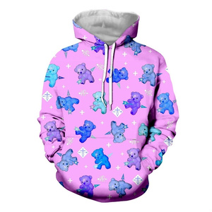 big BLUE テディベア pull-over parka /pink/3XL