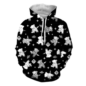 big モノトーン テディベア pull-over parka /BLACK/3XL