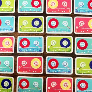 【シール】MiniDisc/Cassette tape