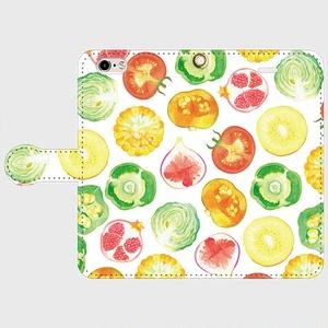 信号色野菜ゴロゴロスマホケース