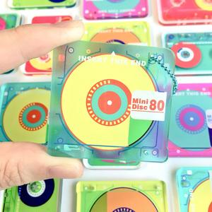 【キーホルダー】おもちゃ風MD・カセットテープ