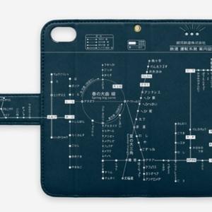銀河鉄道路線図 手帳型スマホケース(ベルトあり)