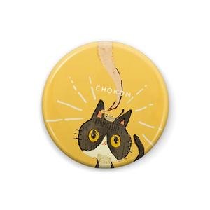 猫の缶バッチ