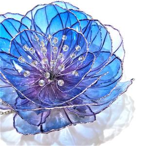 (数珠丸恒治)牡丹のブローチ/ヘアクリップ