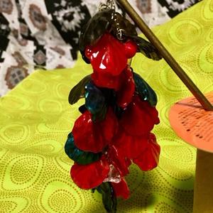 藤の簪 赤・黒(偏光パール)