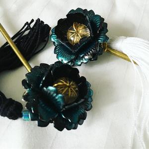 モルファ蝶色の簪