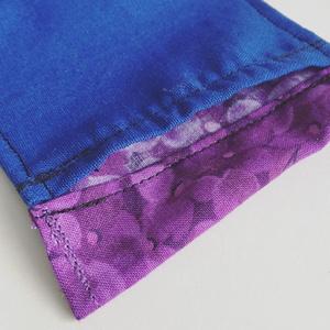 布マスク:青と紫
