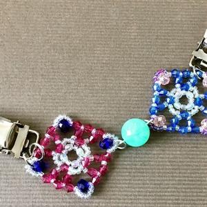羽織紐・ストールクリップ:青と紫