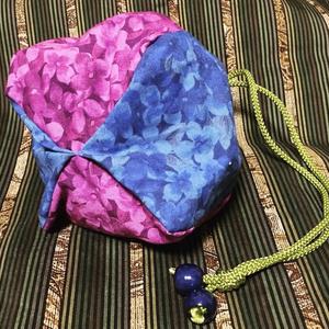 紫陽花の巾着