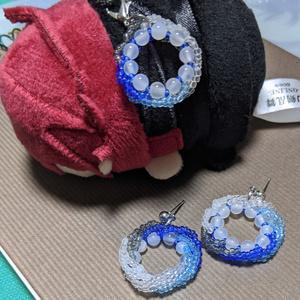 近侍とお揃いピアス:数珠丸モチーフ