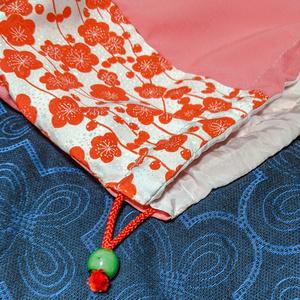 巾着袋:梅の花