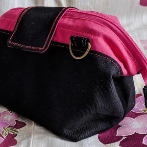 【会計ポーチ】黒+蛍光ピンク