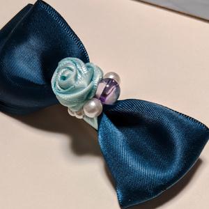 バレッタ:青薔薇