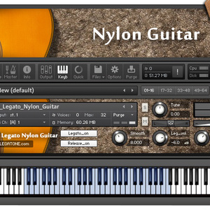 ギター音源 Nylon Guitar [LEGATO EDITION] for KONTAKT