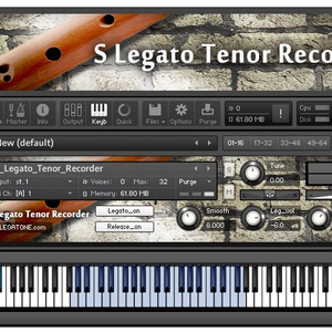 リコーダー音源 S Legato Tenor Recorder for KONTAKT