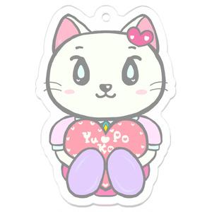 猫のネピちゃんのアクリルキーホルダー(ハート)