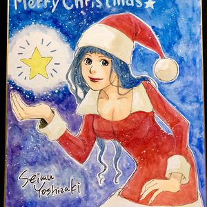 クリスマスカラー色紙