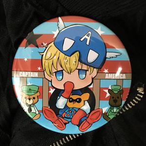 ビッグサイズ缶バッジ キャプテンアメリカ