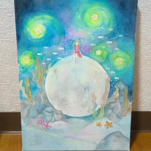 【原画】海底の月