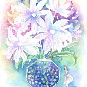 【原画】花のある生活