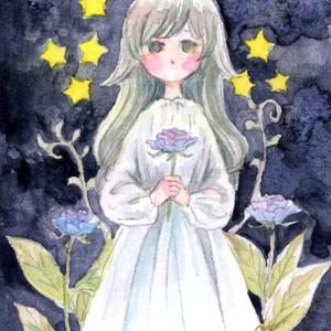 小作品-宇宙の花と女の子-