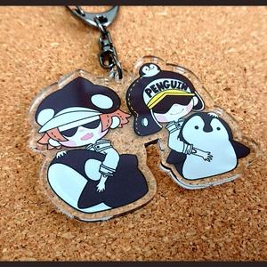 ペンギン&シャチ アクキー