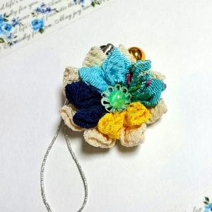 花のストラップ(山姥切国広イメージ)
