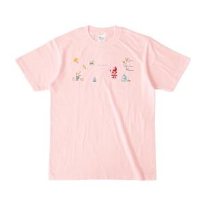 【夜間飛行惑星】いちご姫Tシャツ(ピンク)