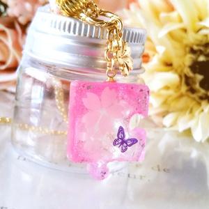 パズルピースネックレス・桜B