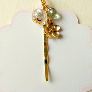 かんざし風ヘアピン・桜、羽根