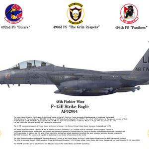 USAF USAFE 48FW F-15E Strike