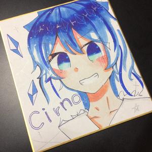 【直筆色紙】東方Project チルノ (おまけつき)