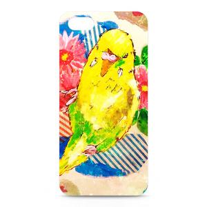 インコ iPhoneケース イエロー - iPhone5/SE/6/6s/7/Plus