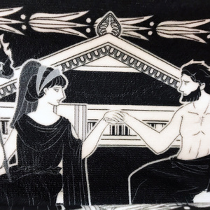 冥界絵巻物タオルマフラー【古代ギリシャナイトΕ<ハデス冥界祭>】