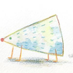 色鉛筆と水彩の原画 6種類