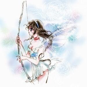 弓を持つ少女