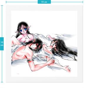 三人アリシアとアジェンダとサリューン(アーシュ・アシャル)