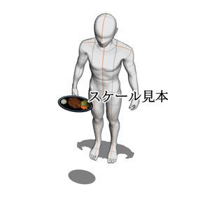 【3D背景素材】ちょっとリアルなハンバーグプレート