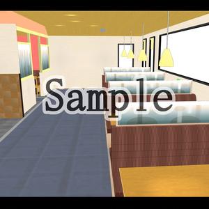 【3D背景素材】令和版ファミレス内観「ガーデンn号店」