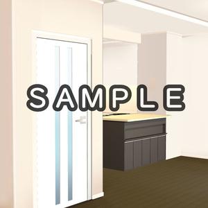 【3D背景素材】ほんのりセレブのマンションリビング