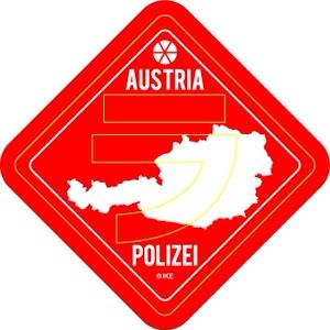 オーストリア「ラ」抜き警察 シール