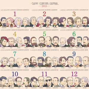 Classic Composer Calendar 2015