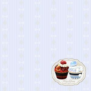 ミニタオルハンカチ カップケーキ(清安)