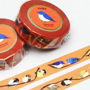 野鳥柄マスキングテープ