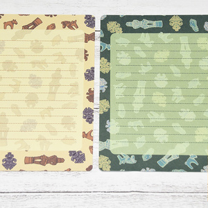 埴輪と土偶ミニ便箋(A6:2種各5枚入)
