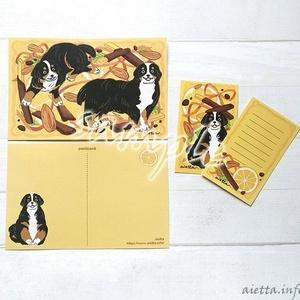 《バーニーズマウンテンドッグ》ポストカード&メッセージカード