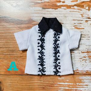 刺繍シャツ(モノクロ)