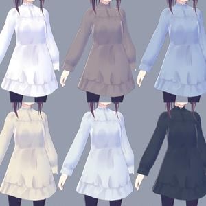 【無料試着可】シャツワンピース【VRoid衣装】