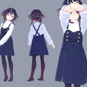 【無料試着可】サロペットスカート【VRoid衣装】