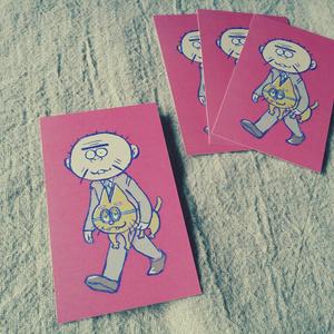 聖澤庄之助とエスパーニャンコのメッセージカード